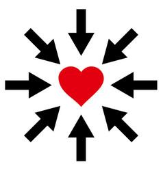 impact love heart icon vector image vector image