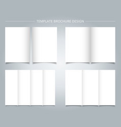set of brochure templates blank page on white vector image