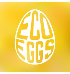 Silhouette of egg with text inside on blur vector image vector image