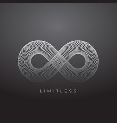 abstract infinity symbol made with circles vector image