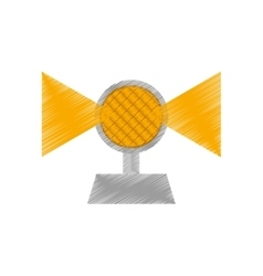 drawing light alert mining caution sign vector image