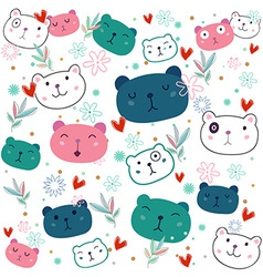 Fancy Bear pattern vector image vector image