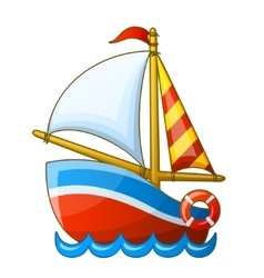 Sailing vessel isolated on white background vector image