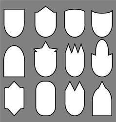 Set of shield line vector image vector image