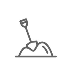 simple pile of sand line icon symbol and sign vector image vector image