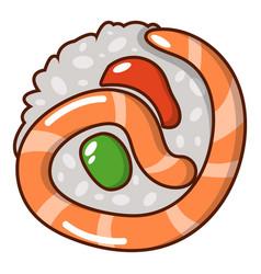 sushi japan icon cartoon style vector image vector image