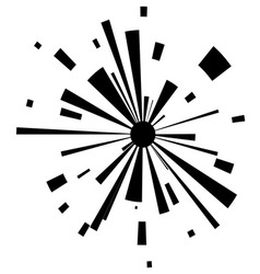 Abstract explosion on white background vector image vector image