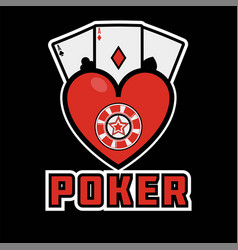 casino poker icon template gamling cards vector image vector image