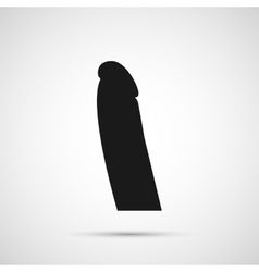 dildo isolated on white background vector image