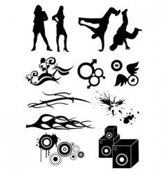 hip hop designs vector image vector image