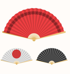japan folding fan japanese culture symbol hand vector image vector image