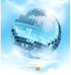 mirrored disco ball vector image vector image