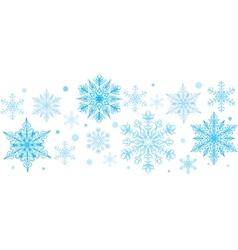 Snowflakes decorative element vector image vector image