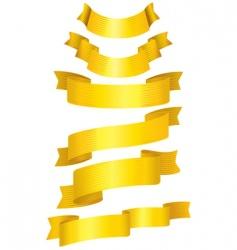 38gold ribbons vector image