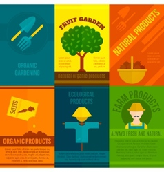 Ecological Posters Set vector image vector image