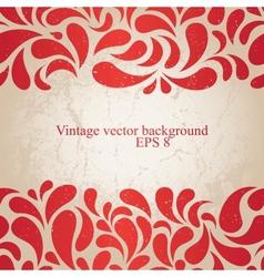 red vintage background vector image vector image