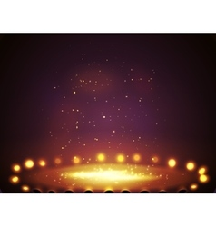Stage with lights shine and spotlights vector image vector image
