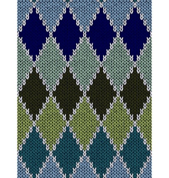 Style Seamless Color Knitted Pattern vector image vector image