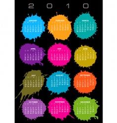 2010 splatter calendar vector