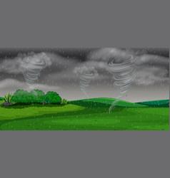 A storm at night vector