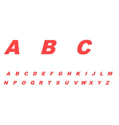 abc a simple red design vector image