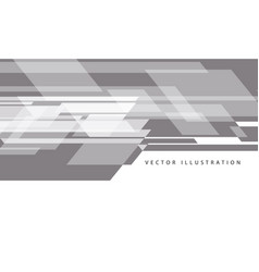 Abstract grey data flow speed on white design vector
