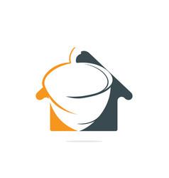 Acorn real estate logo design vector
