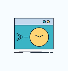 admin command root software terminal flat icon vector image