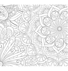 Adult coloring bookpage a cute abstract vector