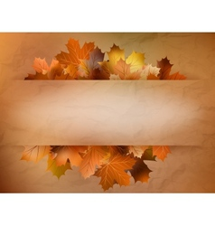 Autumn card of colored leafs EPS 10 vector