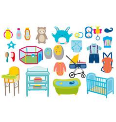 Baby boy kid kit babies toys vector