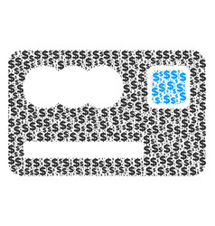 Banking card collage of dollar and dots vector
