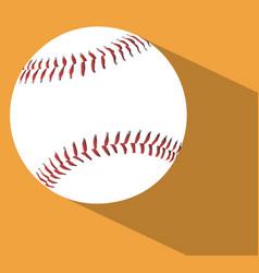 baseball with shadow vector image