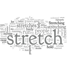 Basic stretches for runners vector