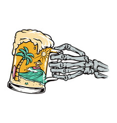 Beer and beach vector