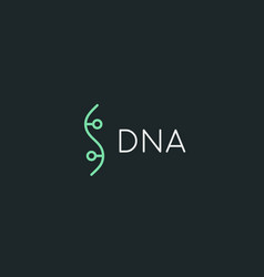 Bio dna logotype linear medicine science lab vector