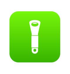 Branch of hops icon digital green vector