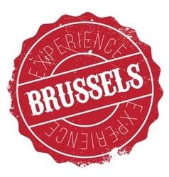 Brussels stamp rubber grunge vector