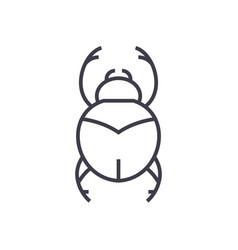 bugsegypt sign line icon sign vector image