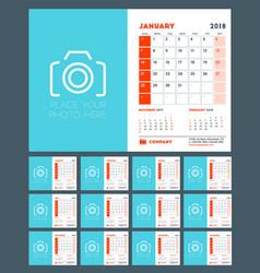 calendar for 2018 year week starts on sunday vector image
