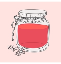 Cartoon jam jar vector