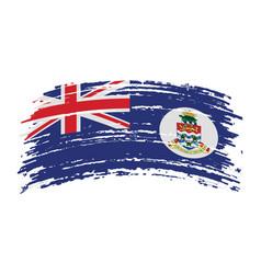 Cayman islands flag in grunge brush stroke vector