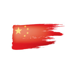 China flag on a white vector