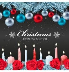 Christmas seamless border vector