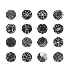 circle shapes set for design vector image