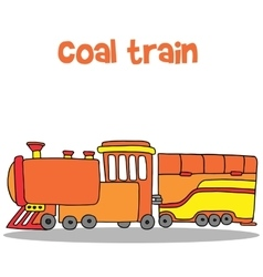 Collection transportation of coal train vector