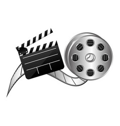 Color clapper board film and film production icon vector