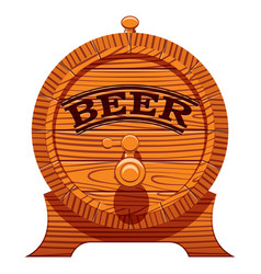 color with a cask beer vector image