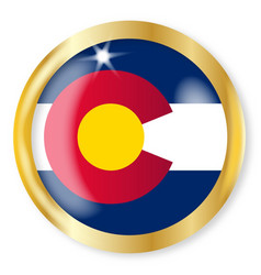 colorado flag button vector image