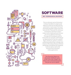 creative concept of application software wit vector image